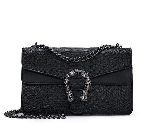 Snake Fashion Brand Women Bag Alligator PU Leather Messenger Bag Designer Chain Shoulder Crossbody Bag Women Handbag Bolso Mujer