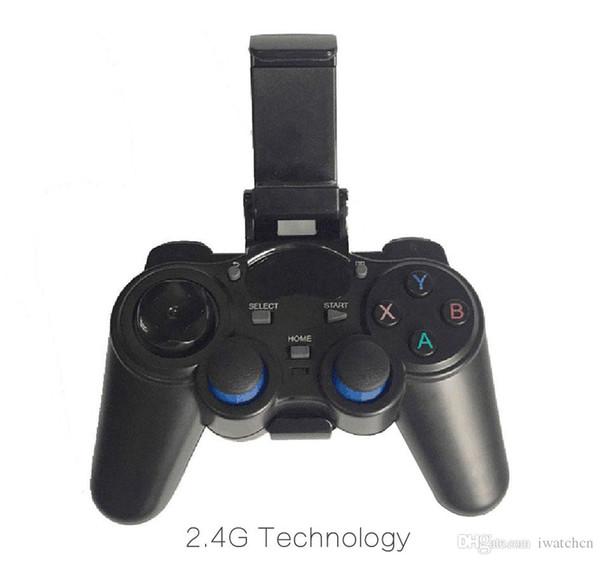 10pcs 2.4G controller di gioco wireless gamepad joystick mini tastiera remotatore per box TV universale e smartphone con supporto per telefono