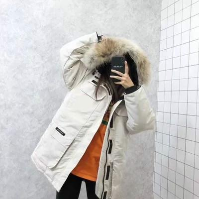 DHL Women Parkas WINTER CANADA Brand EXPEDITION3 Down & Parkas WITH HOOD/Snowdome jacket Real wolf Collar White Duck/GOOSE Outerwear & Coats