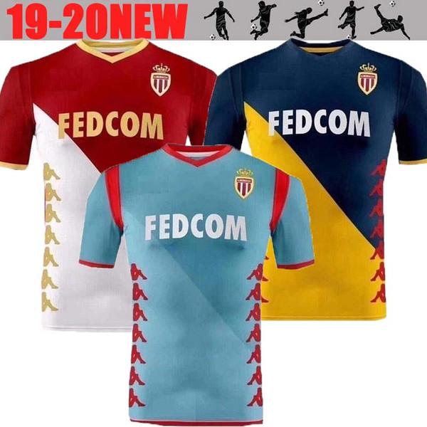 2019 2020 Monaco Fußball Trikot RONY LEMAR 19 20 FABINHO GLIK CARRILLO J. MOUTINHO KEITA JOVETIC Monaco Fußball Trikot