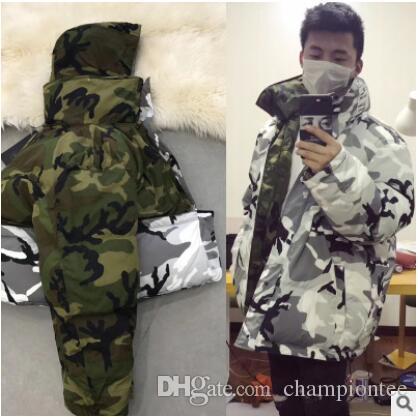camo reversibile parka cooperazione camo indumenti reversibili due lati indossare giacche spesse camouflage bianco-latte camo giacca invernale
