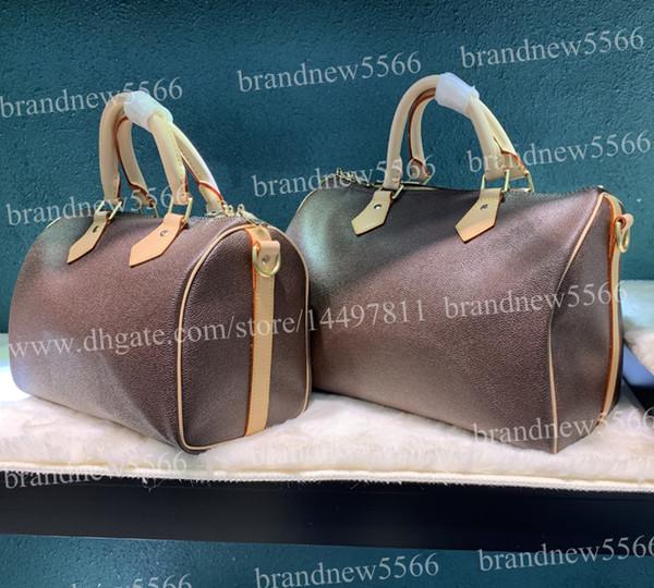 Top Quality Classic Genuine Leather Handbag 41112 Women's Fashion Shoulder Bag 25 30cm 35 Boston Bags with strap 41368 Lady Crossbody Bag