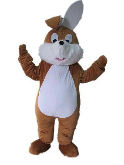 2019 factory hot un disfraz de mascota de conejito marrón con boca pequeña para que un adulto use a la venta un disfraz de mascota de conejito marrón con boca pequeña para