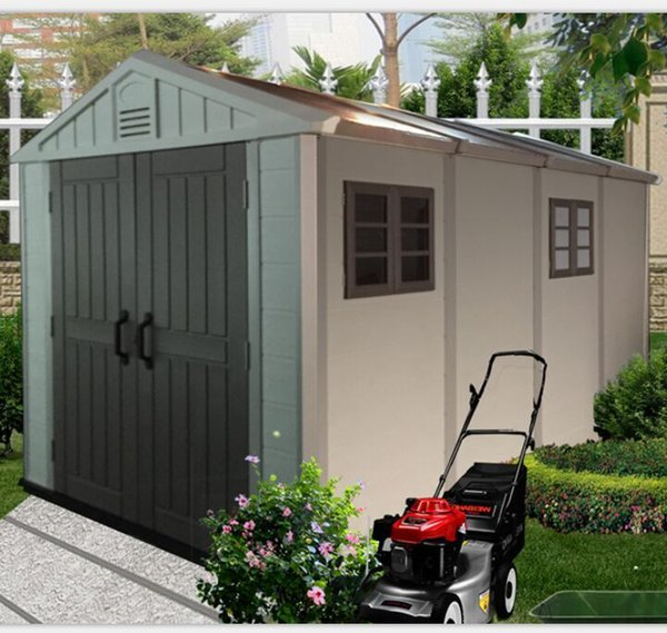 2019 KINYING BRAND Newest Anti ultraviolet industrial shed waterproof plastic storage shed outdoor garden shed for storage items