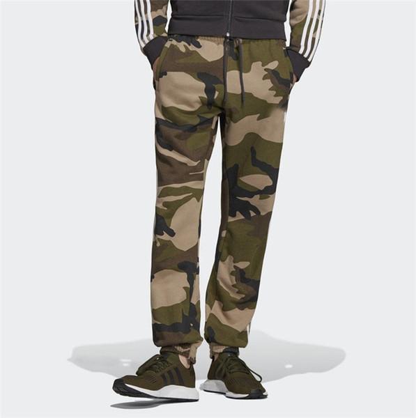 Pantalones para hombre 2019 marca de lujo de moda diseñador adid-s pantalones para hombre venta caliente de alta calidad de camuflaje hombres leggings deportivos para hombre DU1130