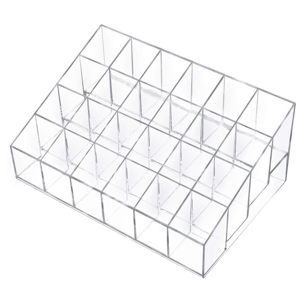 Clear Acrylic 24 Lipstick Holder Display Stand Cosmetic Organizer Makeup Case makeup organizer Display Stand Rack Holder