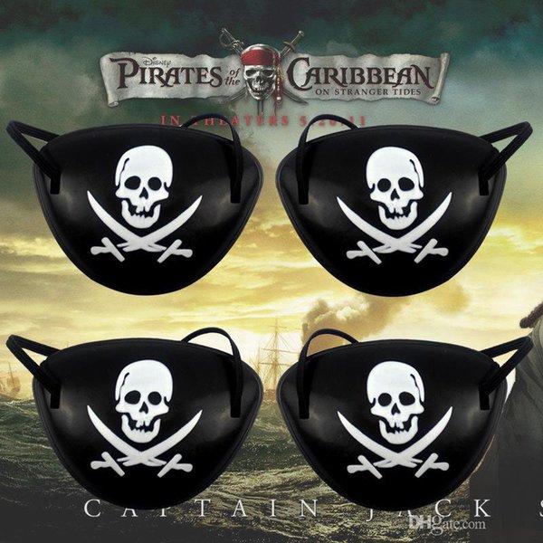 Новые стили Пиратские Eye Patch и пиратские шапки Череп Crossbone Halloween Party Пользу Мешок Костюм Дети Хэллоуин Игрушка Craft Подарки Бесплатная Доставка