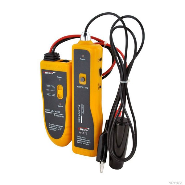 Freeshipping NF816 Localisateur de câbles souterrains, Détecteur de câbles Détecteur de pannes Outils de localisateur de câbles réseau Localisateur de câbles souterrains