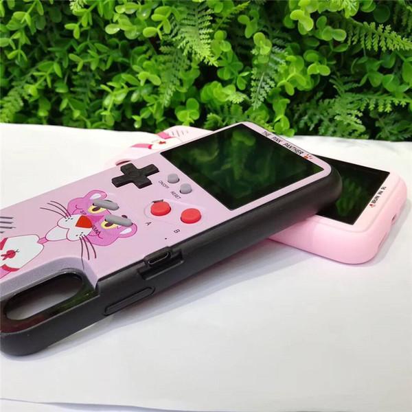 Mini portable Console de téléphone cas gel de silice Console de protection mini-jeu rechargeable LCD couleur