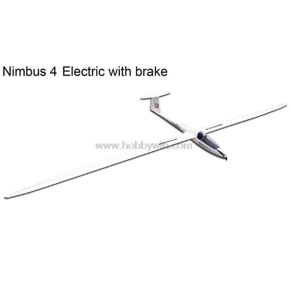 Nimbus 4000mm Planeur électrique avec frein Retract Motor Propeller Spinner Esc Servo RC Modèle En Fibre De Verre Sailplane
