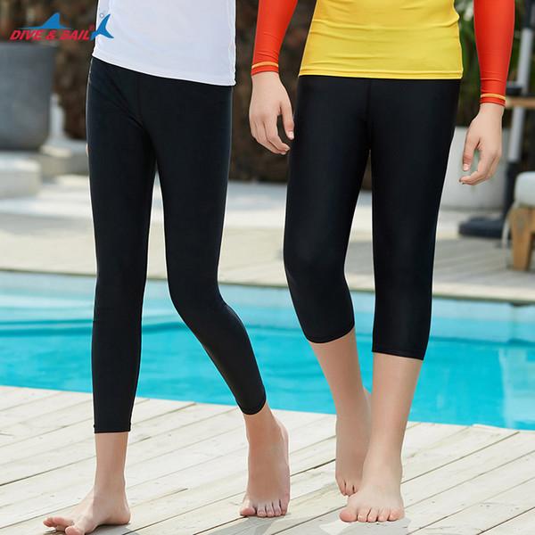 Dive Sail Swimming Trunks Pantaloni lunghi Half Shorts Diving Rash Guards Bambini Quick Dry Beach Surf Swim Train Suit Kid Girls Boys J190522