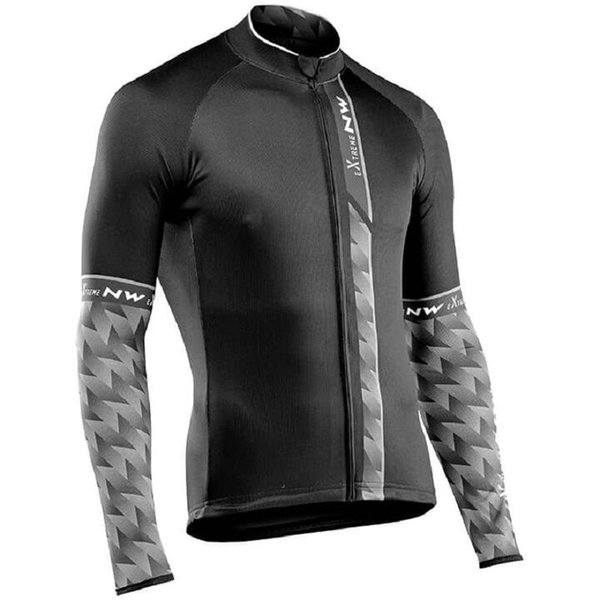 2018 New Men NW Northwave Cycling Jersey Autumn Long Sleeve Riding Tops MTB Bike Shirts Road Bicycle Clothing Maillot Ciclismo 120405Y