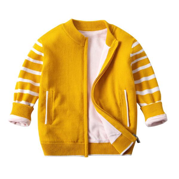 Ganzkörper plus Samt Klasse A Baumwolle im großen Jungen Europa und den Vereinigten Staaten Außenhandel Jungen Pullover Reißverschluss Strickjacke Mantel