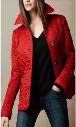 Londra Brit Elmas ceketler Kadınlar 2019 İngiltere Moda İlkbahar Sonbahar Yeni Katı Klasik Palto Kadın Uzun Kollu Suit Blazers Kırmızı