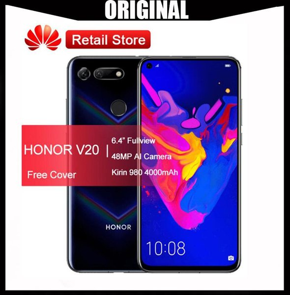 Original HUAWEI Honor View 20 Smartphone Honor V20 Android 9 6GB RAM 128GB ROM Support NFC fast charge Mobile Phone