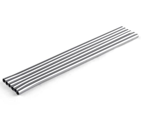 top popular Durable Stainless Steel Straight Drinking Straw Straws Metal Bar Family kitchen Diameter 6mm DHL FEDEX 2021