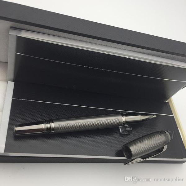 Conjunto de canetas MB de luxo Caneta esferográfica StarWaker com superfícies escovadas e encaixes revestidos em PVD, caneta esferográfica luxus monte como presente