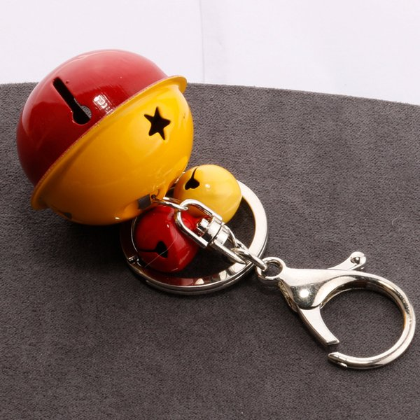 Korean version of the creative metal candy color bell key chain female manual DIY mobile phone shell accessories couple bag pendant H030