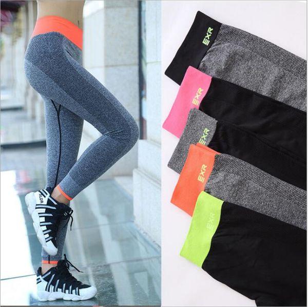 Leggings Mujeres Yoga Fitness Jeggings Correr Medias deportivas Gimnasio Leggings al aire libre Pantalones Lápiz Elástico de secado rápido Pantalones Delgados Calientes B4881