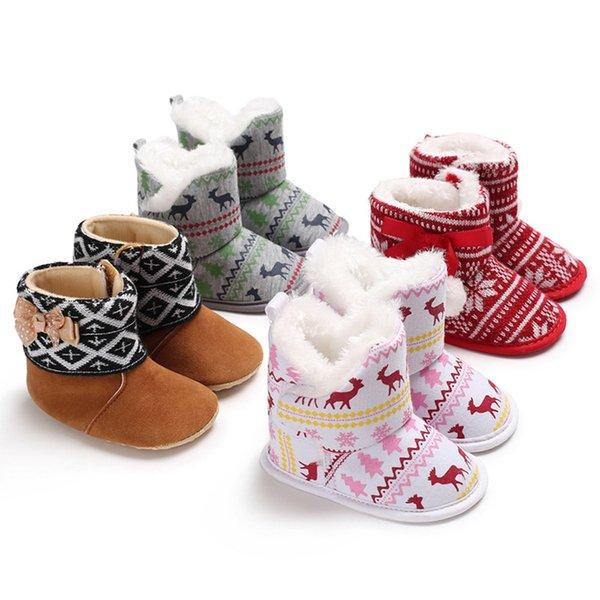 SHUJIN 2018 Nouveau Intérieur Maison Pantoufles Flanelle Plush Maison Pantoufles Pour Noël En Bois Chaussures De Sol pour Toddler Garçons Filles