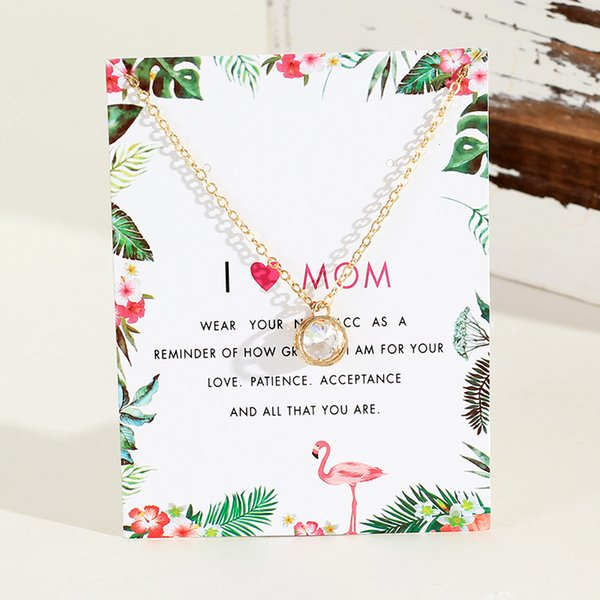 Wish Popular New Creative Mothers Day Card in Europe and America Can Adjust the Special Supply Source of Diamond Necklaces for Women across