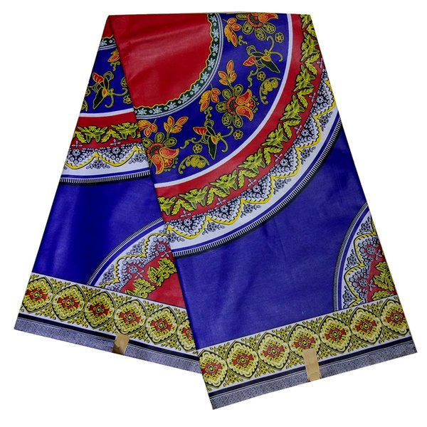 100% cotone africano tessuto africano della cera reale del tessuto della stampa vero e proprio olandese cera 6 yarde vestito delle donne per