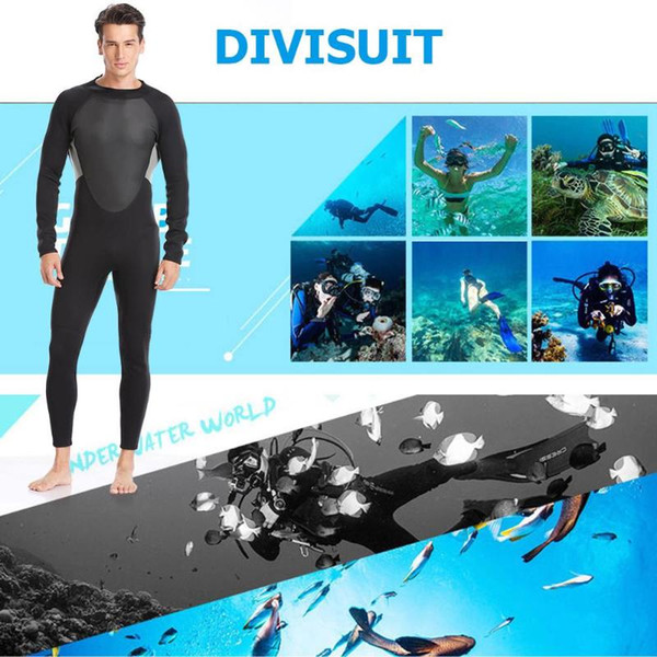 top popular Men 3MM Neoprene One-piece Wetsuit and Close Body Diving Suit Long Sleeve Scuba Diving Suit Snorkeling Surfing Swimwear M-4XL 2021