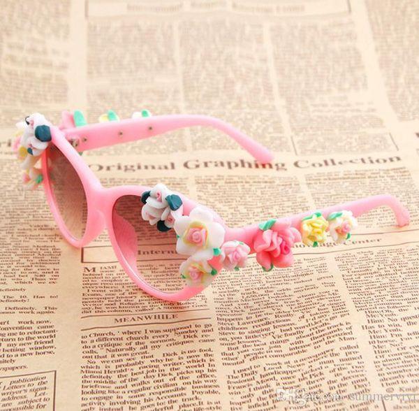Детские солнцезащитные очки детские конфеты цветочная рамка с цветами солнцезащитные очки девушки пляжная принцесса аксессуары 2019 летние детские солнцезащитные кремы F5943