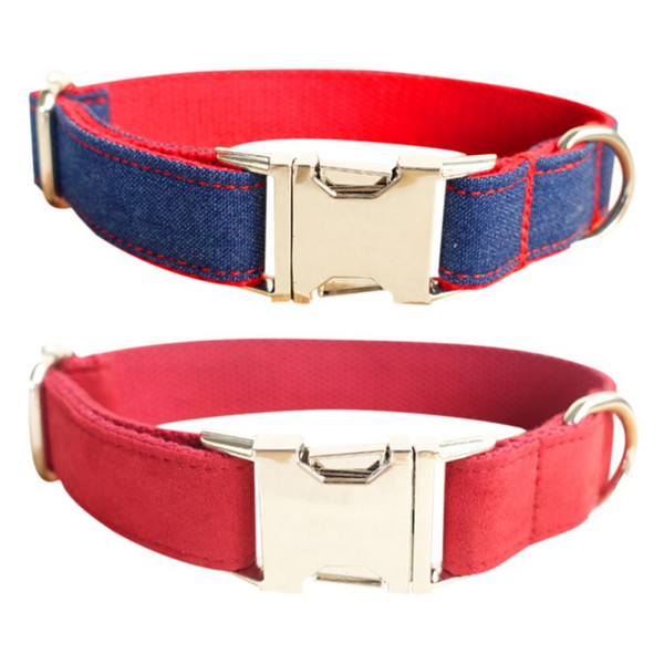 Dog Collar Luxury Flower Adjustable Dogs Harnesses Pet Neck Ornament With Metal Leash Ring Collars For Dog