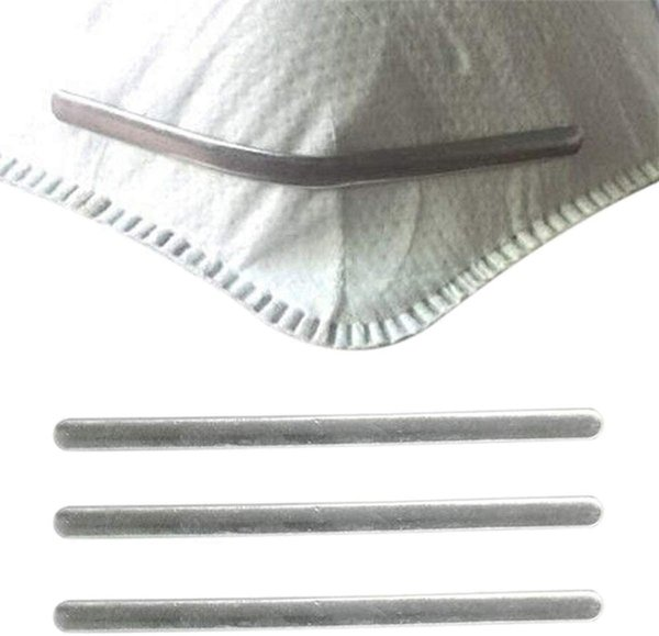 best selling Aluminum Strips Nose Wire Nose Bridge Bracket For Mask Metal Flat Nose Clips DIY Wire For Sewing Crafts