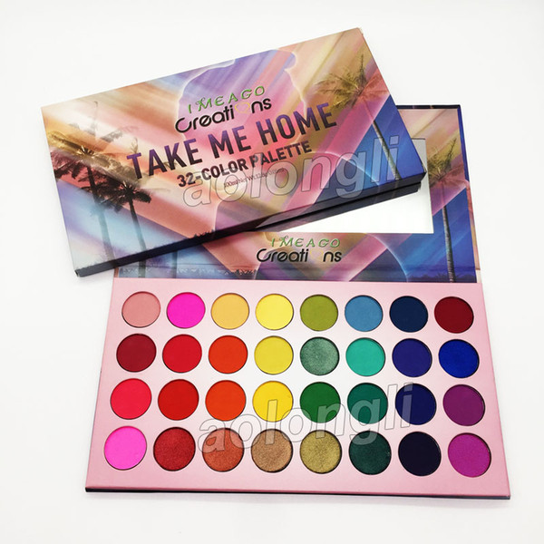 Take me home makeup eye hadow palette 32 color eye hadow imeago eye hadow matte himmer palette beauty co metic dhl hipping