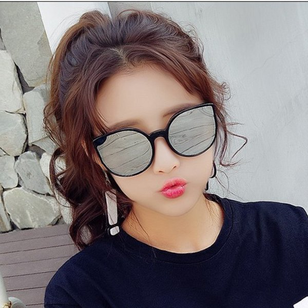 Classic Style Colorful Sunglasses Tide Star Glasses New Round Personality Sun Glasses Ladies Round Face Men Cat Eyes unisex