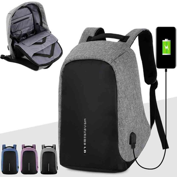 Smart USB Charging Men Laptop Backpacks For Teenager Fashion Male Travel Backpack Anti Thief Backpack School Bag