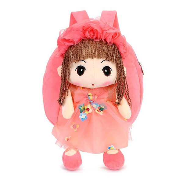 Lovely Doll Plush Schoolbag Backpack Bag Plush Toy Storage Organizer School Bags For Girls Kid Children Bag Schoolbags Backpacks