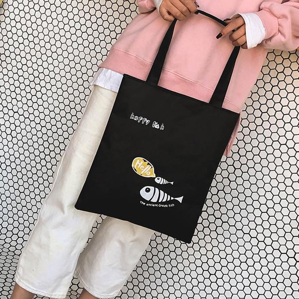 Cheap Fashion Girls Women handbags Printing Bags Simple Letter Canvas Bag Shoulder Designer Handbag Popular