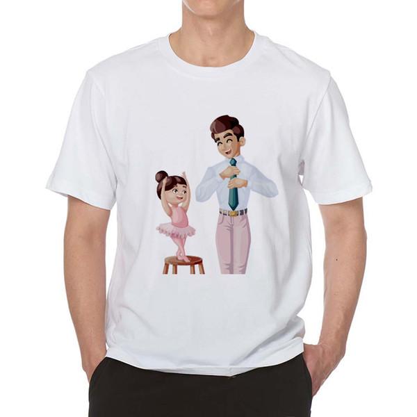 Tee Gömlek Homme Baba ve Onun Küçük Dans Kız T Gömlek Erkekler 2019 Giysi Baba Aşk Harajuku Grafik Tees Camisetas Hombre Tops