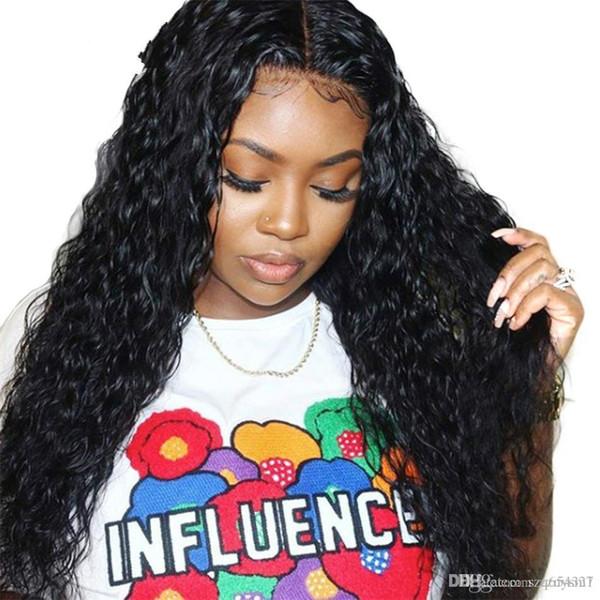 Perruques de cheveux humains pour les femmes 150% pré pincé 100% perruques de cheveux remy malaisien vague d'eau sans colle avant de lacet perruques de cheveux humains