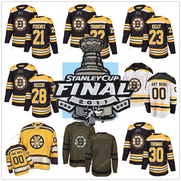 2011 Stanley Cup Jersey Hockey Boston Bruins Andrew Ference Shawn Thornton Chris Kelly Mark Recchi Tim Thomas Zdeno Chara