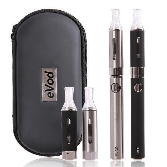 Double MT3 EVOD Starter Kit EVOD Battery MT3 Atomizer E Cigarette EVOD MT3 zipper case kit with eGo Big Case DHL Free shipping