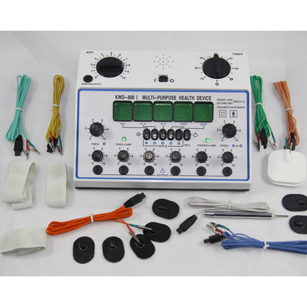 6 Kanäle Zehneinheit. Mehrzweck-Akupunktur-Stimulator Gesundheits-Massagegerät KWD-808I acupuntura Elektrischer Nervenmuskelstimulator