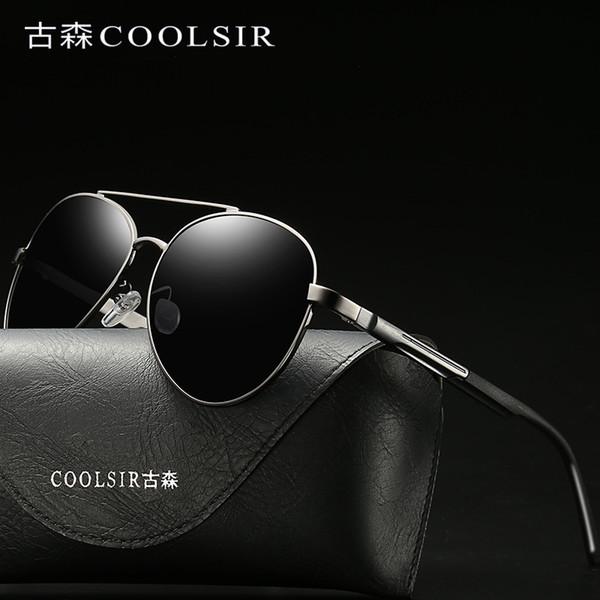 Las gafas de sol polarizadas nuevas de los hombres directos de la fábrica Gafas de colores grandes del marco clásico gafas de sol polarizadas