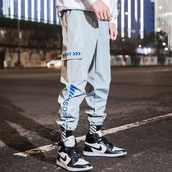 Erkekler Pantolon Streetwear Harem Koşucular Pantolon 2019 Yeni Erkek Pantolon Erkek Hip Hop Kargo Gevşek Sweatpants Casual Sonbahar