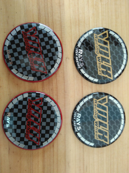 Aluminum 4pcs 50mm center cap sticker for rims advan rays volk ssr xxr logo car racing modified emblem on wheel cover high quality