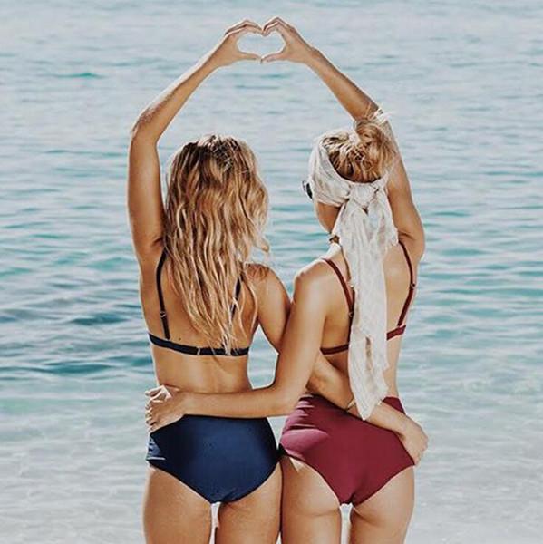 2019 Sıcak Kadınlar Bikini Seksi Yüzme Giyim Moda Yaz Tarzı Ekose Plaj Tasarımcı Rahat 3 Renkler