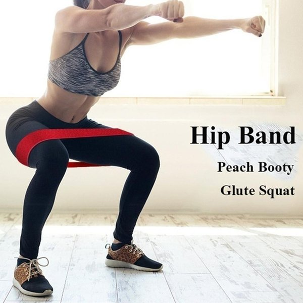 1Pcs Cotton Resistance Bands Fitness Set Rubber Loop Bands Strength Training Workout Expander Gym Equipment Elastic