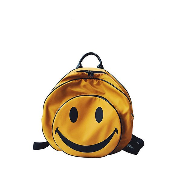New 2019 Small Cute Smile Backpack For Teenagers Women Nylon Backpacks Girls Lady Student School Travel Bags Bolsas An1307