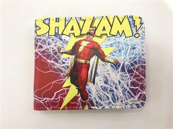 wallet men Captain Marvel Shazam Comics wallet ID Credit Card Holder Coin Pocket
