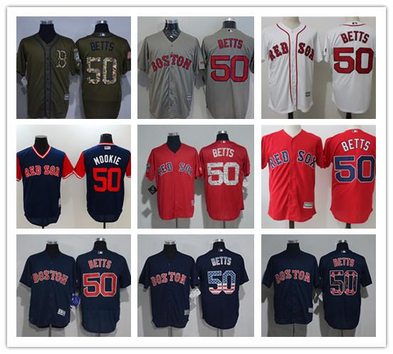 new concept 1b3a7 037d1 2019 2019 Custom Boston Red Men'S Women Youth Majestic Sox Jersey #50  Mookie Betts Home Red Baseball Jerseys From Sports0308, $16.5 | DHgate.Com