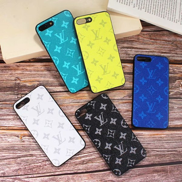 Monogram Slim Hybrid Phone Case for Apple iPhone XS Max/XR 8/7/6 Plus for Women Girls Full Protection Shockproof Designer Back Cover DHL