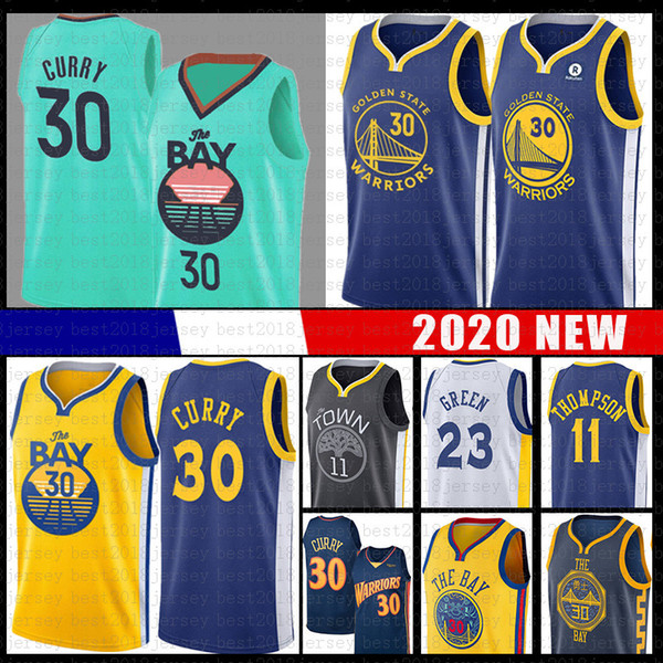 top popular 30 23 Stephen Draymond Curry Green Ncaa Golden Basketball State Jersey Warriors Klay 11 Thompson 2020 College Jersey 2019